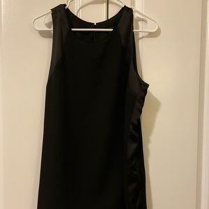 Black satin and crepe sleeveless top Size 12